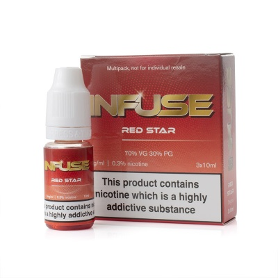 Infuse Red Star E-Liquid - Money Off!