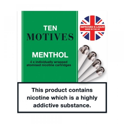 10 Motives E-Cigarette Medium Strength Menthol Refill Cartridges