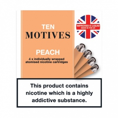 10 Motives E-Cigarette Medium Strength Peach Refill Cartridges