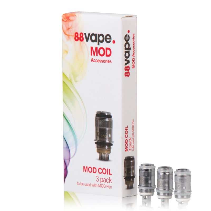 88Vape 50W Mod Replacement Atomiser Coils (Pack of Three)