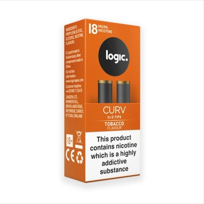 Logic Curv Tobacco Refill E-Tip Twin Pack