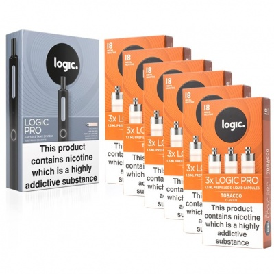Logic PRO E-Cigarette Tobacco 18mg Combination Pack