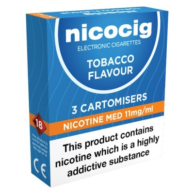 Vivid Nicocig Refill Cartridges Medium Strength Tobacco Cartomisers