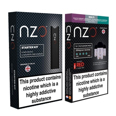 NZO Vape Starter Kit with Multi-Flavour Refill Pack
