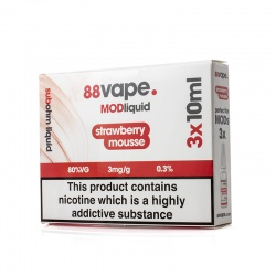 88Vape Mod Liquid Strawberry Mousse E-Liquid