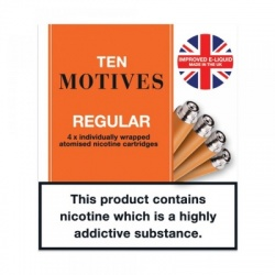 10 Motives E-Cigarette Tobacco Refill Cartridges Saver Pack (40 Packs)