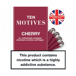 10 Motives E-Cigarette Medium Strength Cherry Refill Cartridges