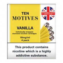 10 Motives E-Cigarette Medium Strength Vanilla Refill Cartridges
