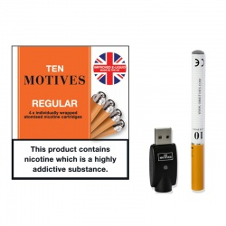 10 Motives E-Cigarette Starter Kit with High Strength Tobacco Refills