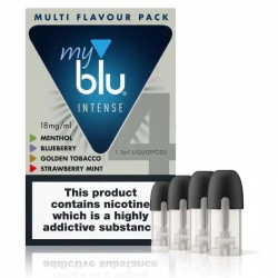 Blu MyBlu Intense Multi Flavour Pack (Pack of 4 Pods)