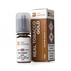 JAC Vapour Real Tobacco Gold UK Made PG E-Liquid - Money Off!