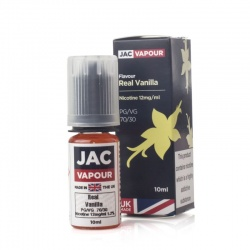 JAC Vapour Real Vanilla UK Made PG E-Liquid - Money Off!