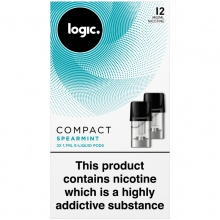 Logic Compact Spearmint 12mg E-Liquid Pods