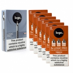 Logic Pro E-Cigarette Tobacco 12mg Combination Pack