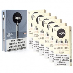 Logic Pro E-Cigarette Vanilla 6mg Combination Pack
