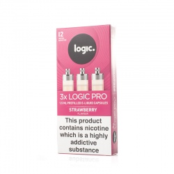 Logic Pro Refill Capsules Strawberry 12mg