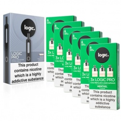 Logic PRO E-Cigarette Menthol 6mg Combination Pack