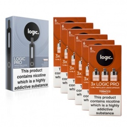 Logic PRO E-Cigarette Tobacco 6mg Combination Pack