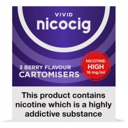 Vivid Nicocig Refill Cartridges High Strength Berry Cartomisers