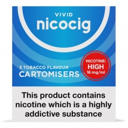 Nicocig Refill Cartridges High Strength Tobacco Cartomisers
