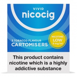 Nicocig Refill Cartridges Low Strength Tobacco Cartomisers
