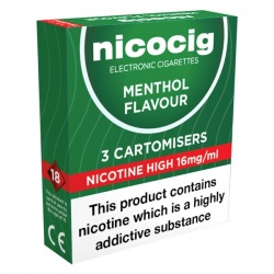 Nicocig Refill Cartridges High Strength Menthol Cartomisers