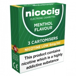 Vivid Nicocig Refill Cartridges Low Strength Menthol Cartomisers