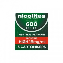 Nicolites Refill Cartridges High Strength Menthol Cartomisers