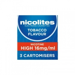 Nicolites Refill Cartridges High Strength Tobacco Cartomisers