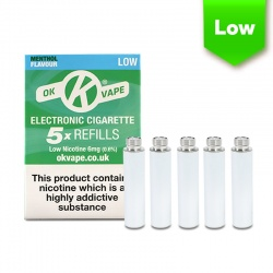 OK Vape E-Cigarette Low Strength Menthol Refill Cartridges (6mg)