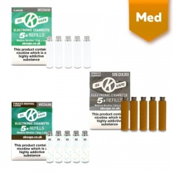 OK Vape E-Cigarette Medium Strength Refill Cartridges Taster Pack