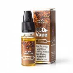 Eco Vape Premium Gold Tobacco V2 E-Juice - Money Off!