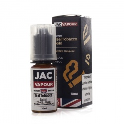 JAC Vapour Real Tobacco Gold UK Made VG E-Liquid - Money Off!