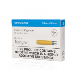 Vapour Pharma+ Tobacco 16mg Cartomiser Refills