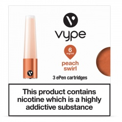 Vype ePen Caps Peach Swirl Refill Pack - Money Off!