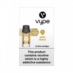Vype ePod vPro Golden Tobacco Cartridges (12mg)