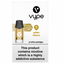 Vype ePod vPro Golden Tobacco Cartridges (18mg)