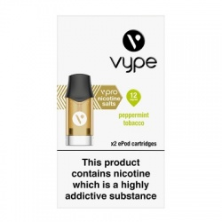 Vype ePod vPro Peppermint Tobacco Menthol Cartridges (12mg)