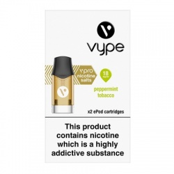 Vype ePod vPro Peppermint Tobacco Menthol Cartridges (18mg)