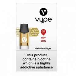 Vype ePod vPro Very Berry Cartridges (18mg)