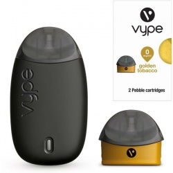 Vype Pebble Starter Kit with Five Golden Tobacco Refills
