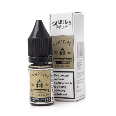 Charlie's Chalk Dust Campfire E-Liquid - Money Off!