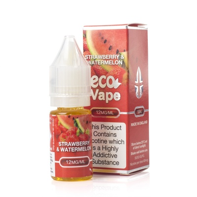 Eco Vape Premium Strawberry and Watermelon V2 E-Juice - Money Off!