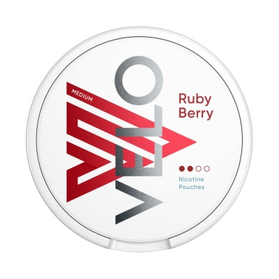 VELO Ruby Berry 6mg Nicotine Pouches (Pack of 20)