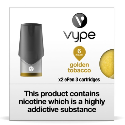 Vype ePen 3 Golden Tobacco Pods (Pack of 2 Refill Cartridges)