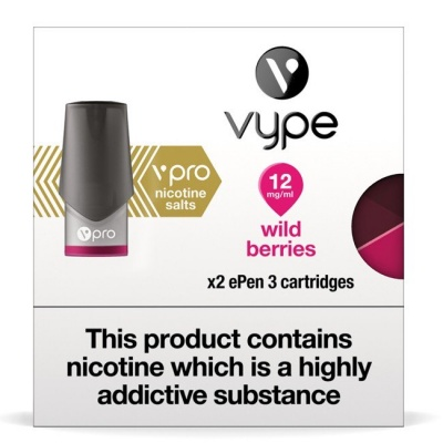 Vype ePen 3 vPro Wild Berries Nicotine Salt Pods (Pack of 2)